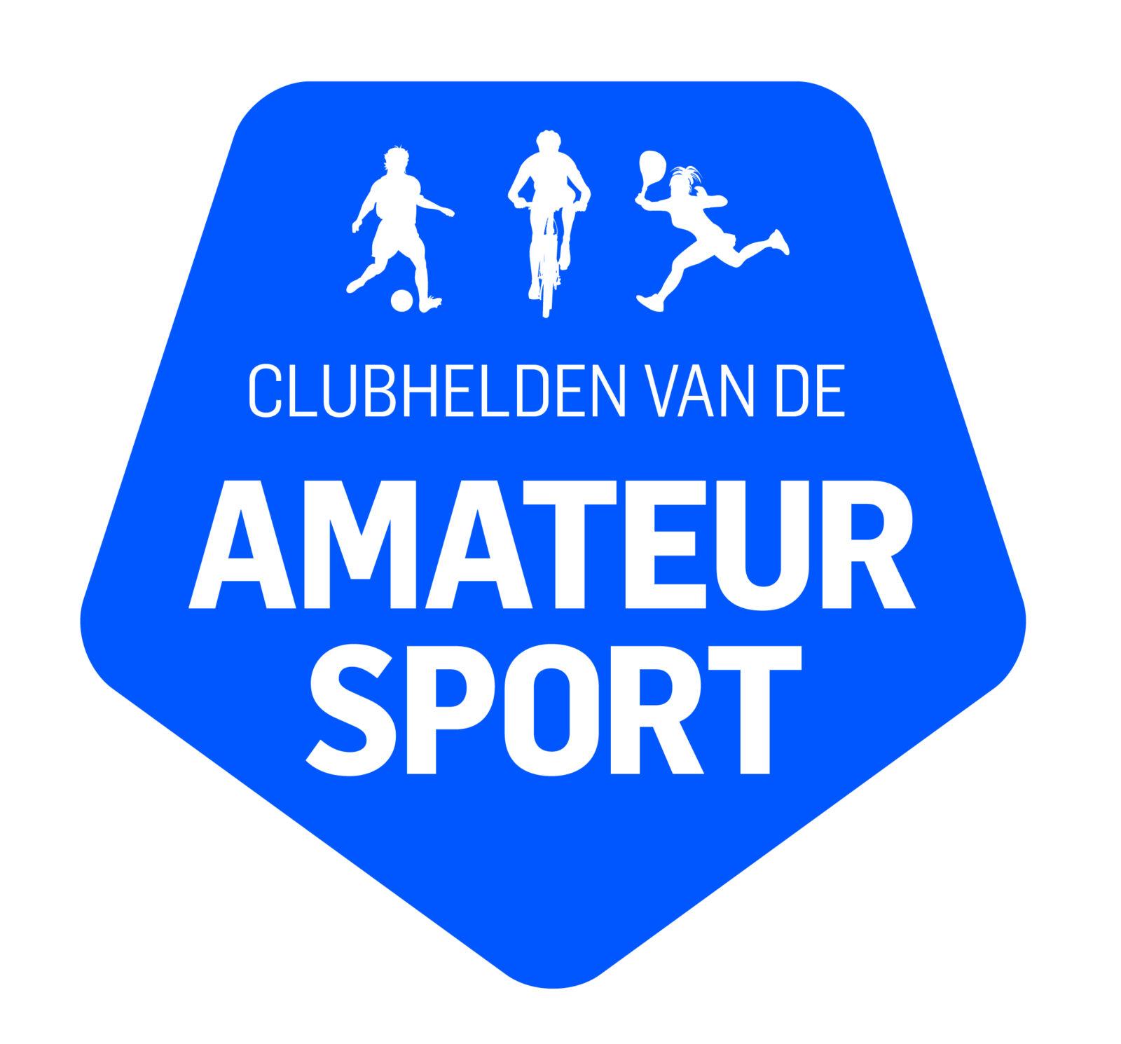 Logo clubhelden van de amateursport b blauw